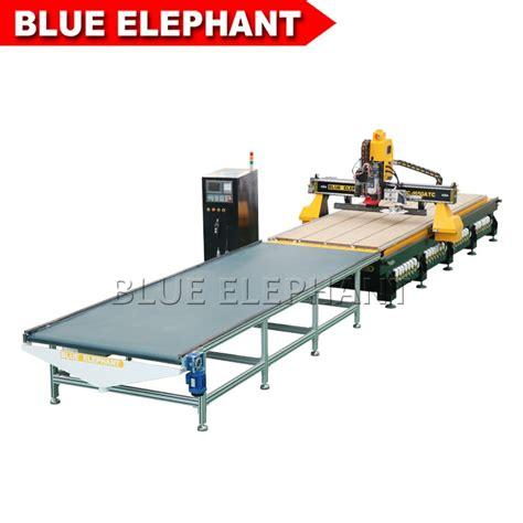 atc cnc oscillating knife cutting machine  acrylic plate blue elephant cnc machinery