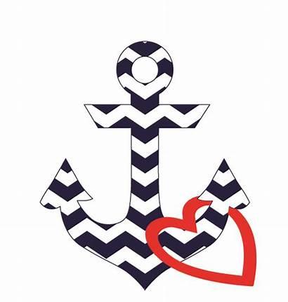 Anchor Heart Clipart Clip Chevron Girly Webstockreview