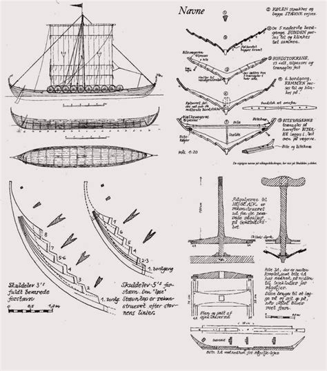 Parts Of A Longboat by Viking Ship Plans Http Www Sjolander Viking Plans
