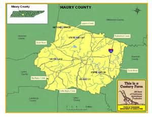 Maury County TN Map
