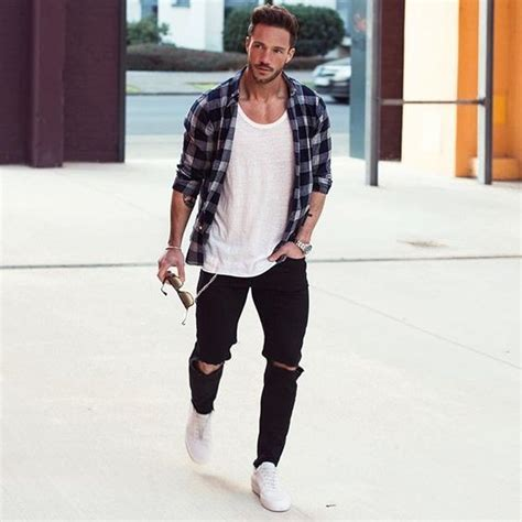 Stylish Ripped Jeans Spring Outfits For Men Styleoholic