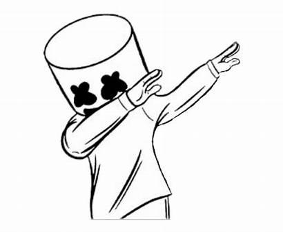 Marshmello Marshmallow Dj Clipart Dab Drawing Marshmellow
