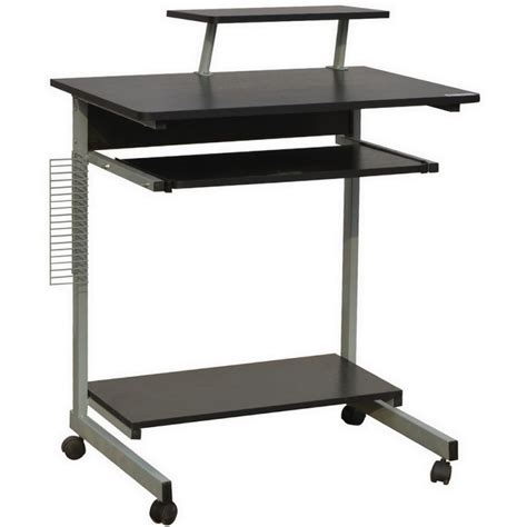 Homegear Compact Home Office Computer Desk On Wheels