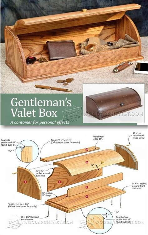 valet box plans woodworking plans  projects