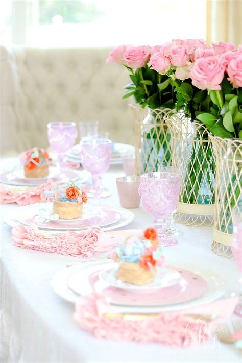 Gamis Set Pink how to set a pink easter table with diy mini