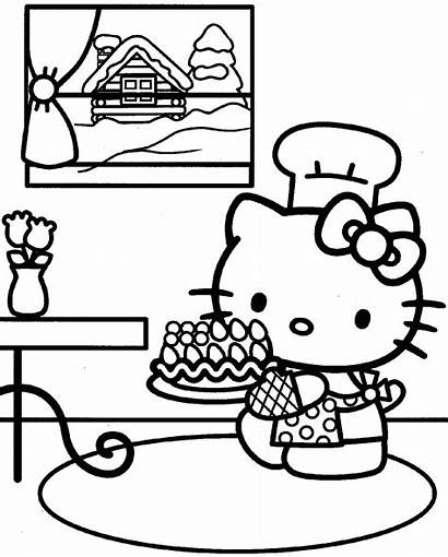 Kitty Hello Coloring Pages Forever Printable Birthday