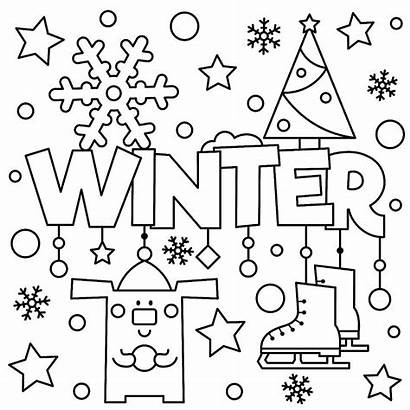 Coloring Winter Printable Themed Activity Puzzle 30seconds