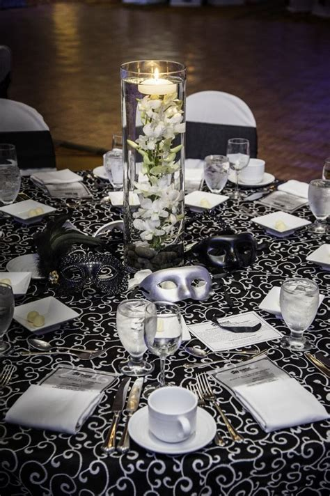 Black And White Masquerade Table Setting Events By Vento
