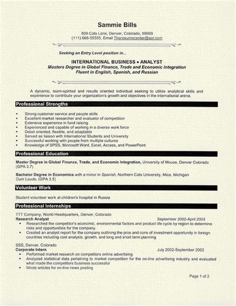 resume patterns for freshers usa canada bank