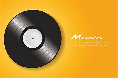 Vinyl Record Vector Background Yellow Mockup Clipart