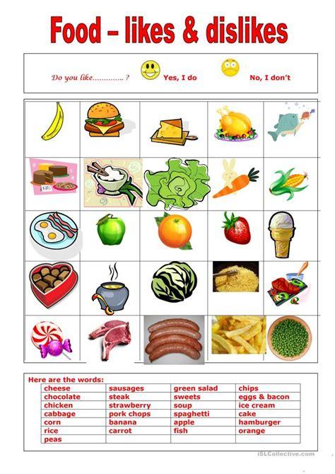 food    worksheet  esl printable