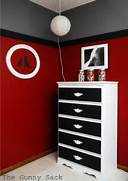 Red Black Grey White Bedroom by Bedroom Makeover Reveal The Gunny Sack