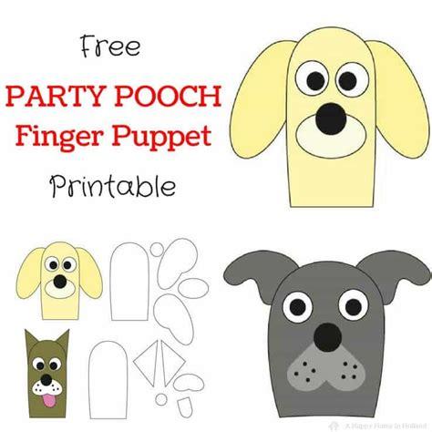 dog finger puppets easy party favor idea  birthdays