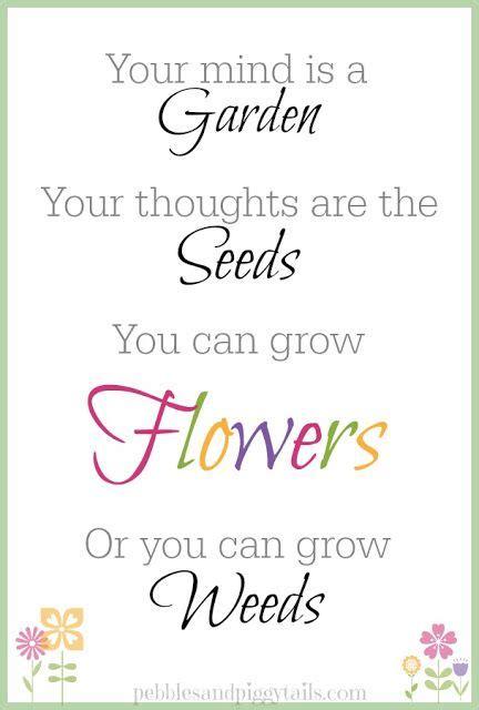 mind   garden  printable garden quotes signs