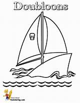 Ship Pirates Coloring Pirate Schooner Ships Yescoloring Seas Boys sketch template