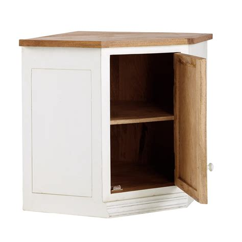mueble alto de cocina esquinero de madera de mango color