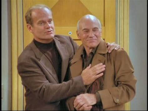 patrick stewart on frasier patrick stewart with kelsey grammer on frasier great