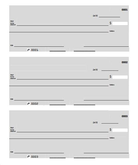Free Blank Check Template Pdf blank check template 30 free word psd pdf vector