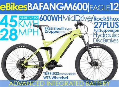 Eboost Motobecane Hal Mountain M600 Suspension Bikes
