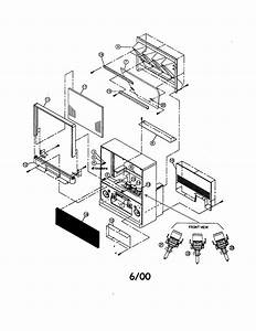 Schematic Diagram Manual Hitachi 51f520 Projection Color Tv