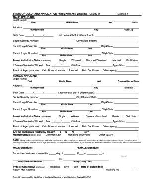 affidavit license certificate marriage york fill