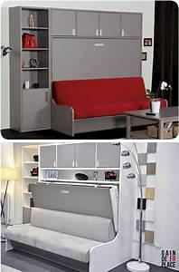 17 meilleures idees deco chambre d39etudiant sur pinterest With idee deco cuisine avec lit escamotable