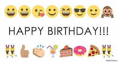 Emoji Birthday Animated Happy Emoticons Cards Celebration