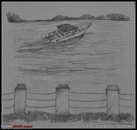Boat Journey Drawing by Civved Thiruvananthapuram Kollam A Journey Back To