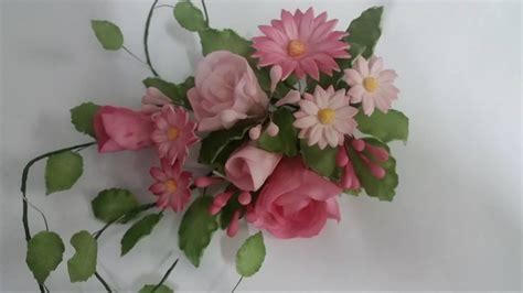 fiori con pasta di zucchero bouquet di fiori pasta di zucchero cake