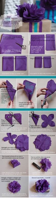 tutorial fiori di carta velina carta velina molto pi di un fiocco progetti da provare