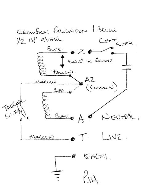crompton parkinson motor wiring diagram reversible ac