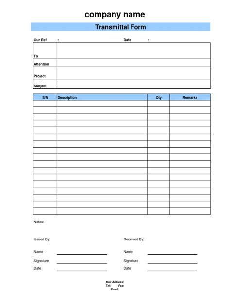 document transmittal form