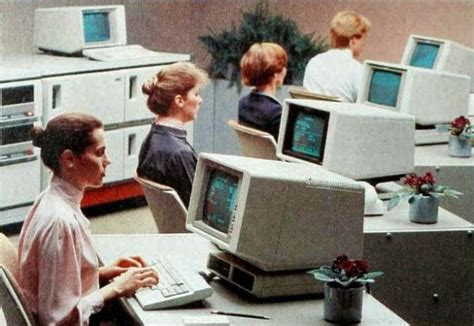 endless office cubicles modern paleotechnology a curious glimpse into an 80s computer
