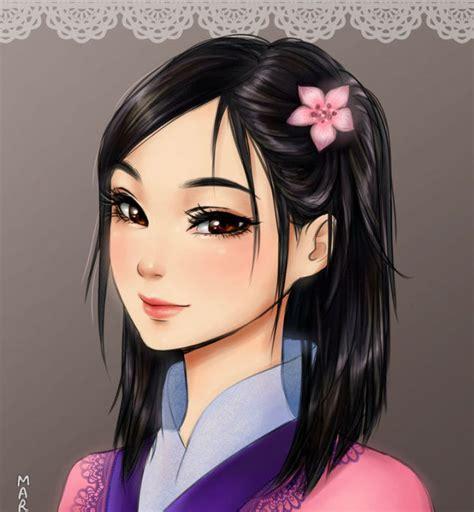 penampilan putri disney versi anime lebih cantik