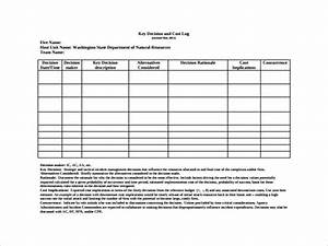 10 decision log templates to download sample templates With key register template