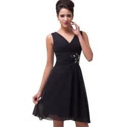 black cocktail dresses for weddings black color v neck chiffon prom dress knee length cocktail dresses formal