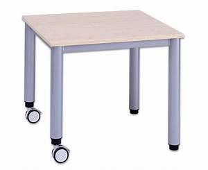 Glastisch 80 X 80 Cm : flexmax tisch h henverstellbar 80 x 80 cm quadratisch mit 2 rollen ~ Bigdaddyawards.com Haus und Dekorationen