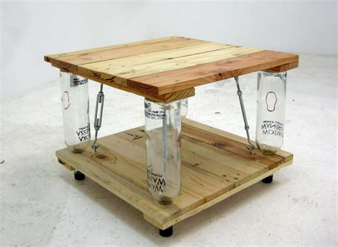Sunpan's coffee table collection will compliment any residential or contract space. Ten Green Coffee Table - from reclaimed timber and glass bottles | Your Projects@OBN