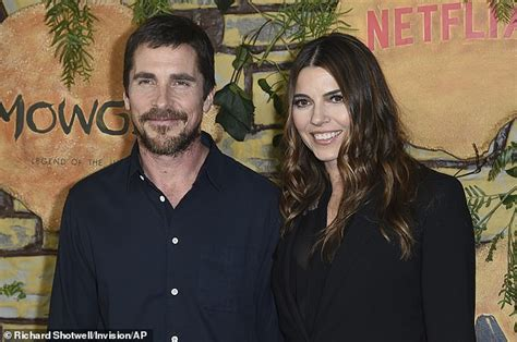 Christian Bale His Wife Sibi Blazic Match All Black