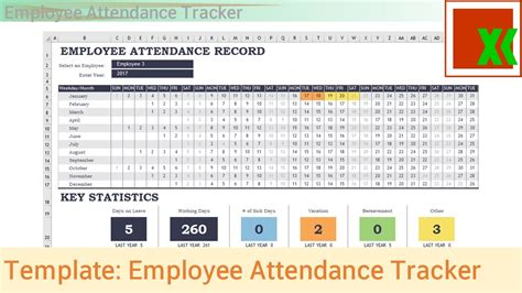 Time And Attendance Tracking Template by Excel Template Employee Attendance Tracker Youtube