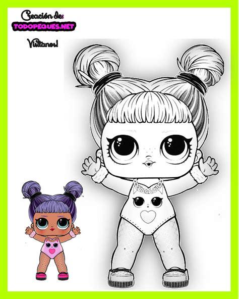 Princesas y muñecas lol características de los juegos de colorear: Dibujos para Colorear LOL SURPRISE Serie 5 Hair Goals | Todo Peques