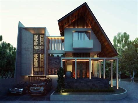 pesona material kayu  mempercantik tampak depan rumah