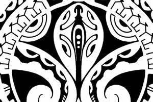 Custom Tribal Designs Polynesian Mask And Gecko Tribal Quarter Sleeve