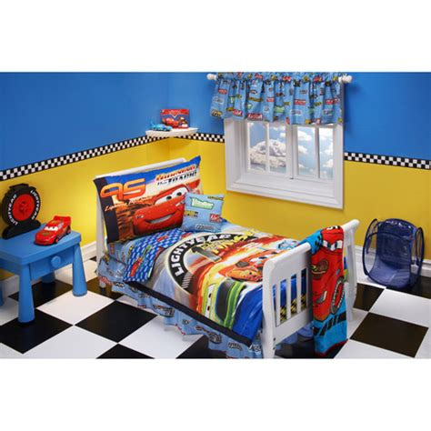 10pc disney cars toddler bedding bed room set comforter ebay