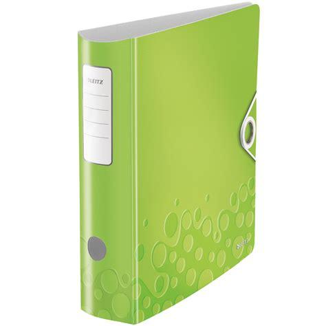 fourniture de bureau design leitz classeur à levier 180 vert classeur leitz sur
