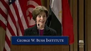 Mrs. Laura Bush on International Women's Day, introduced ...