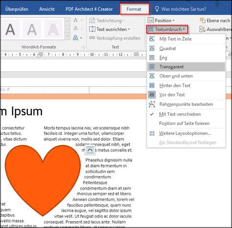 word textumbruch um bilder anwenden office lernencom