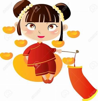 Chinese Clipart Woman Ragazza Fille Cartoon Cartoons