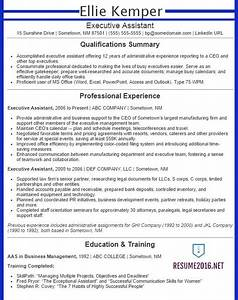 executive assistant resume examples 2016 get your job With executive assistant resume samples