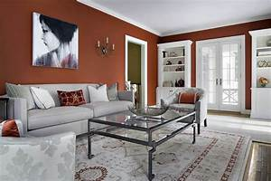23 living room color scheme palette ideas for Gray and red living room